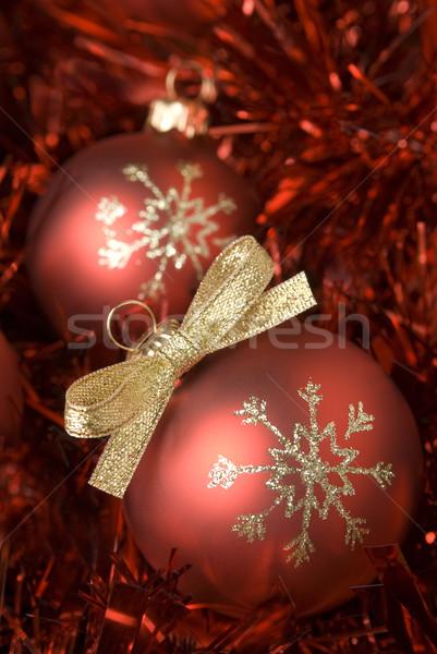 Christmas bal Rood boeg Stockfoto © Pietus