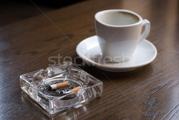 Nikotin koffein hamutartó üres kávé csésze Stock fotó © Pietus