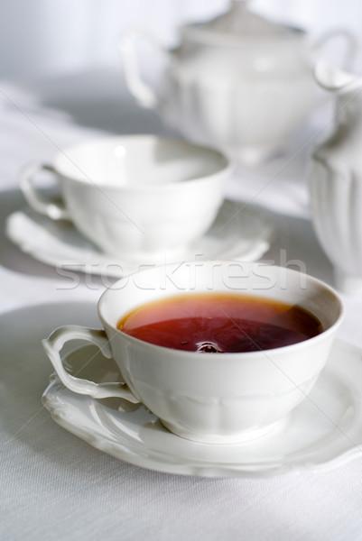 Beker vers thee ingesteld twee een Stockfoto © Pietus