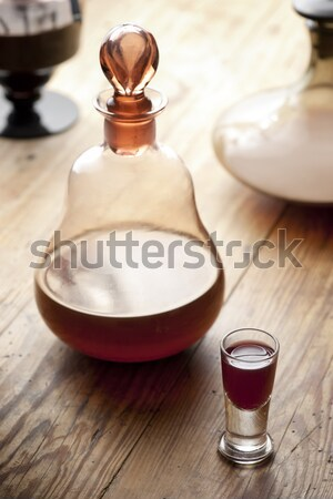 Liqueur vieux antique verre traditionnel Photo stock © Pietus