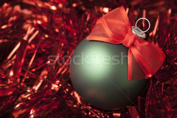 Christmas bal groene Rood Stockfoto © Pietus
