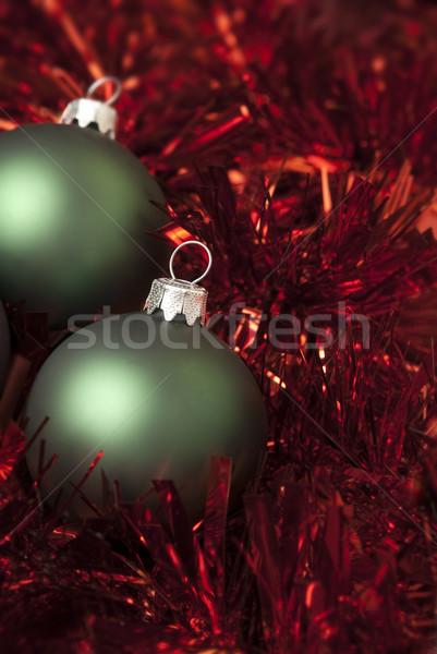 Navidad pelota verde rojo Foto stock © Pietus