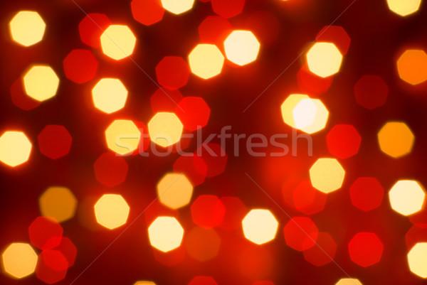 Borroso luces decorativo Navidad naranja rojo Foto stock © Pietus