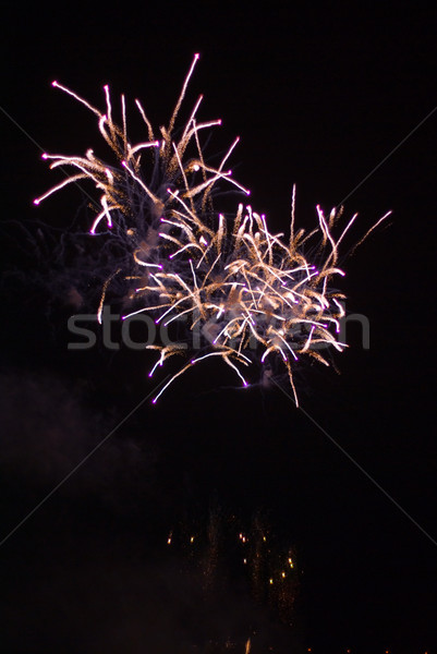 Vuurwerk kleurrijk show partij brand achtergrond Stockfoto © Pietus