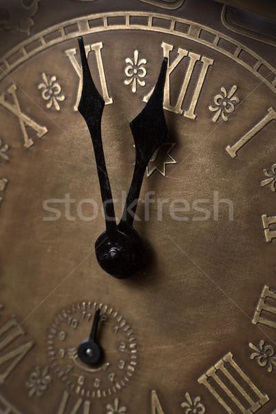 Vijf twaalf oude klok Romeinse Stockfoto © Pietus