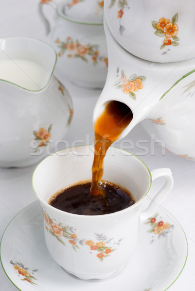 Stockfoto: Koffie · thee · porselein · patroon