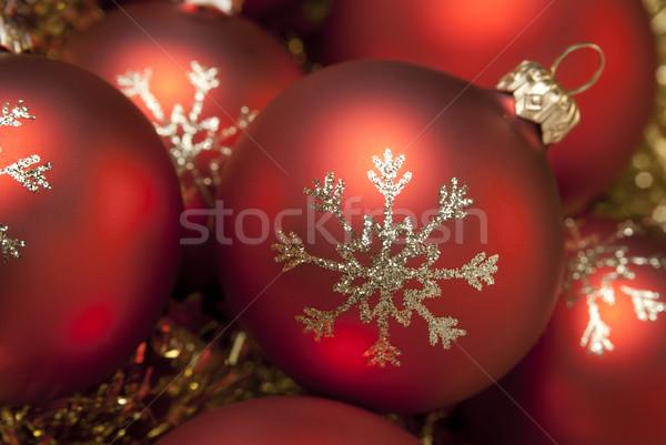Christmas decoratief goud Rood Stockfoto © Pietus