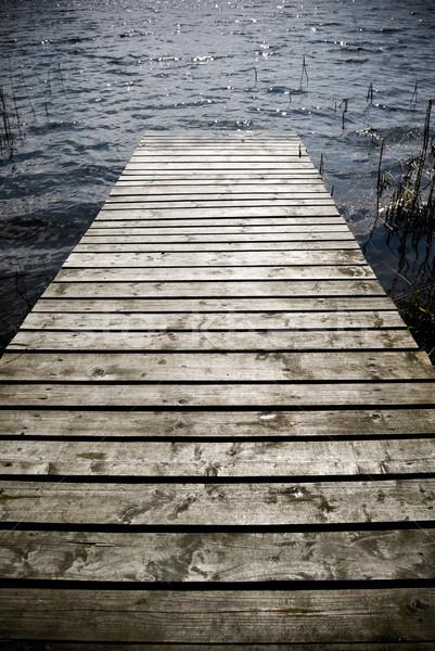 Wooden pier. Stock photo © Pietus