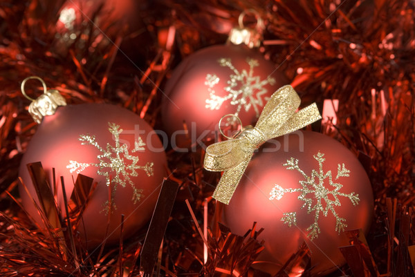 Navidad pelota rojo oro arco decoración Foto stock © Pietus