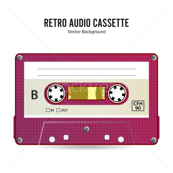 Retro audio kaseta wektora szczegółowy miejsce Zdjęcia stock © pikepicture