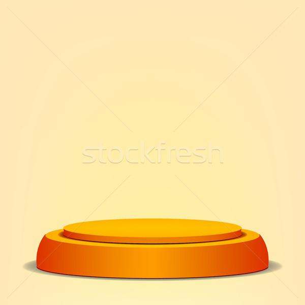 空っぽ ベクトル 表彰台 黄色 3D ステージ ストックフォト © pikepicture