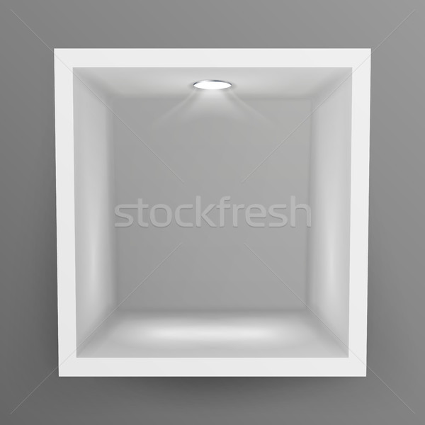 Vide montrent fenêtre niche vecteur résumé Photo stock © pikepicture