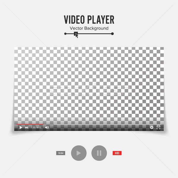 Vídeo jogador interface modelo vetor bom Foto stock © pikepicture