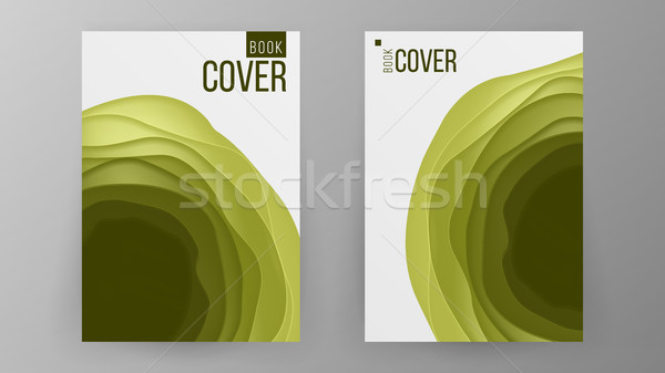 Paper Brochure Design Vector. Space For Photo Background. Modern Design Of Business Brochure. Ilustr Stock photo © pikepicture