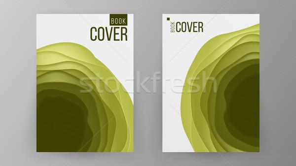 Papier brochure ontwerp vector ruimte foto Stockfoto © pikepicture