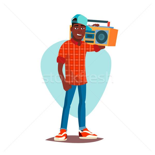 Klasszikus rapper férfi vektor modern zenész Stock fotó © pikepicture