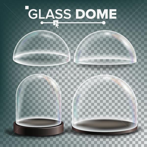 üveg kupola szett vektor hirdetés bemutató Stock fotó © pikepicture