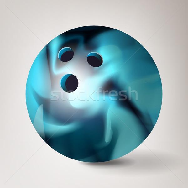 Bowling ball wektora 3D realistyczny ilustracja błyszczący Zdjęcia stock © pikepicture
