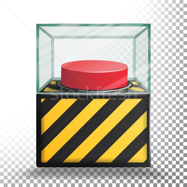 パニック ボタン 孤立した ベクトル 赤 アラーム ストックフォト © pikepicture