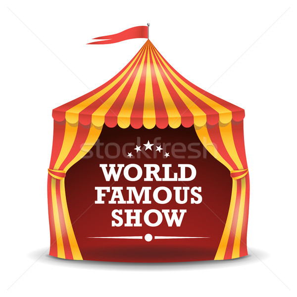 Circus Tent Isolated Vector. Red And Yellow Stripes. Big Top Circus Tent. Carnival Holidays Concept  Stock photo © pikepicture
