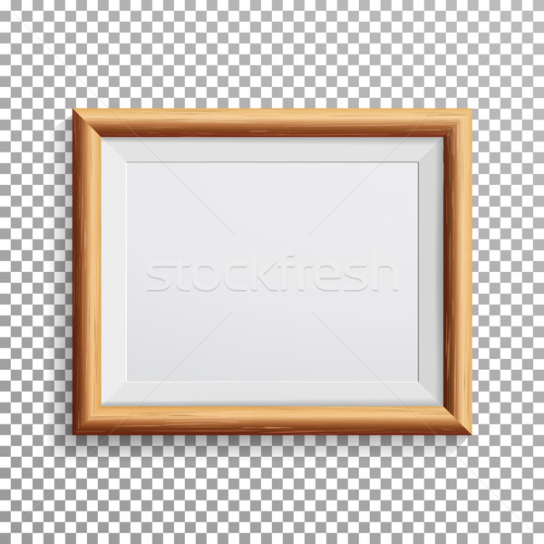 Realistic Photo Frame Vector. Isolated On Transparent Background. Stock photo © pikepicture