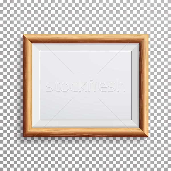 Realista photo frame vetor isolado transparente abstrato Foto stock © pikepicture