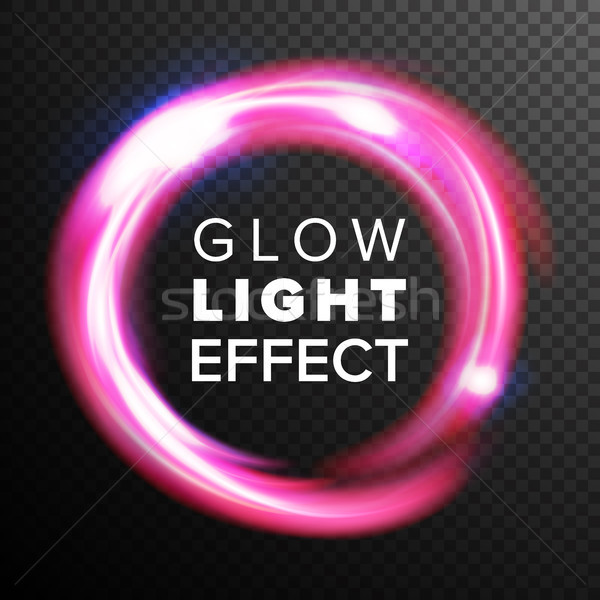 Red Circles Glow Light Effect Vector. Energy Line Neon Swirl Ray Streaks. Abstract Lens Flares. Desi Stock photo © pikepicture