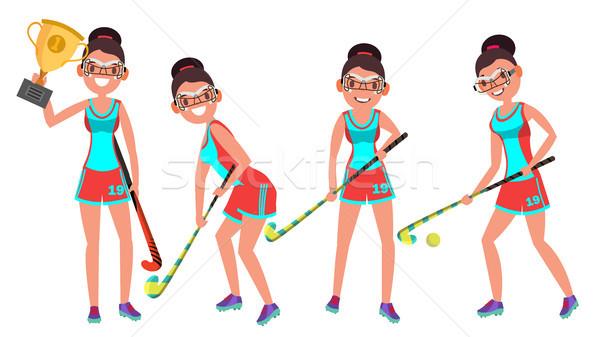 Femenino jugador vector jugando diferente Foto stock © pikepicture
