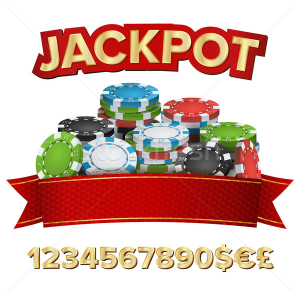 Jackpot Winner Background Vector. Gambling Poker Chips Illustration. For Online Casino, Card Games,  Stock photo © pikepicture