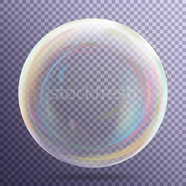 Transparent Soap Bubble Vector Stock photo © pikepicture