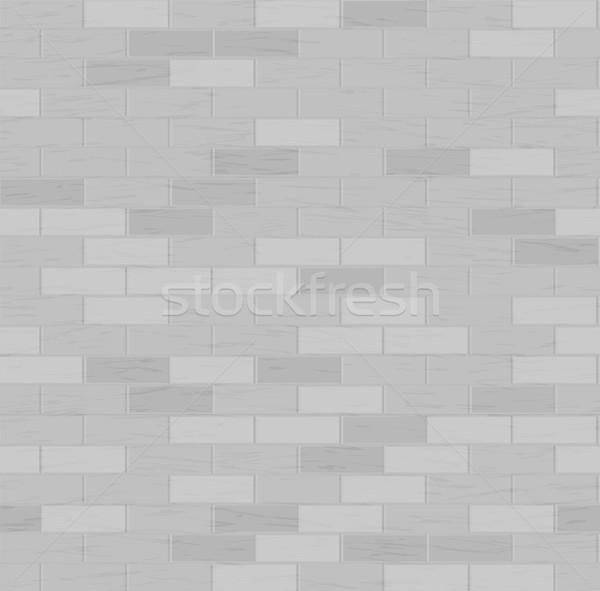 Stock fotó: Téglafal · végtelen · minta · szürke · szín · dizájn · elem · textúra
