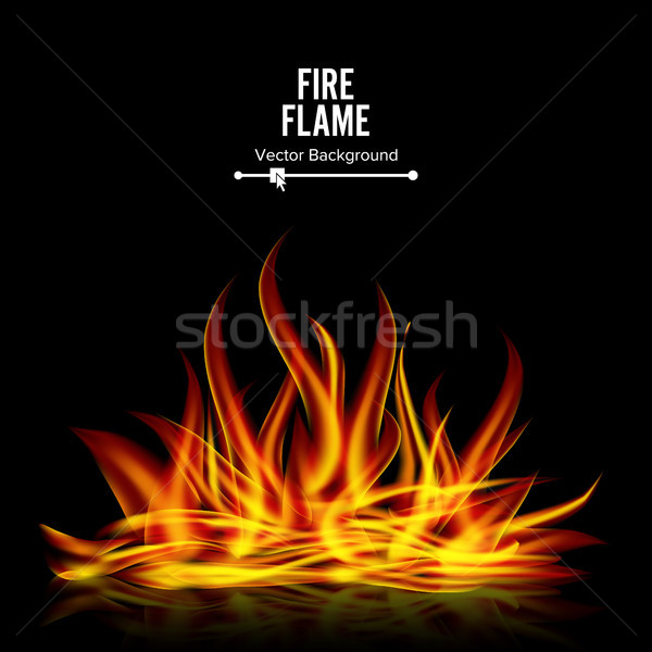 Bonfire Vector On Black Background. Realistic Illustration Stock photo © pikepicture