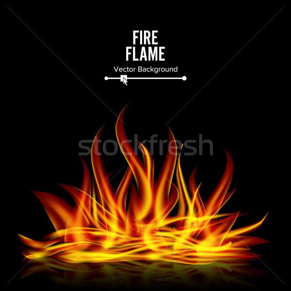Máglya vektor fekete valósághű illusztráció tűz Stock fotó © pikepicture