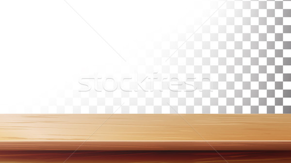 Wooden Table Top Vector. Isolated On Transparent Background Stock photo © pikepicture