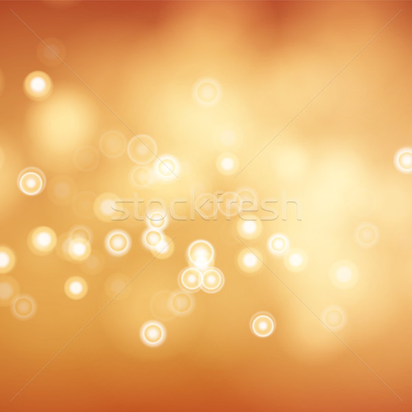 Blur Abstract Image With Shining Lights Vector. Orange Bokeh Background Stock photo © pikepicture