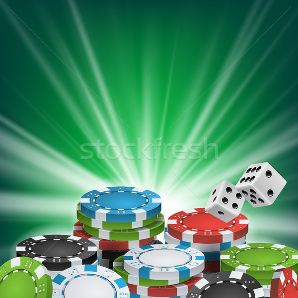 Poker Poster Vector. Online Poker Gambling Casino Billboard Sign. Jackpot Advertising Concept Illust Stock photo © pikepicture