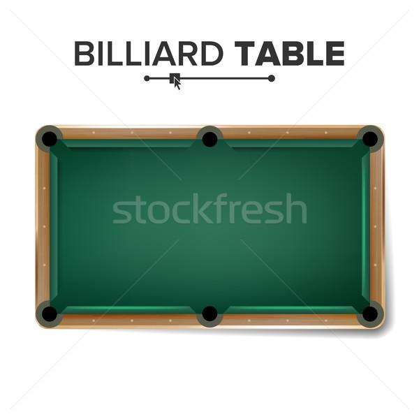 Biliardo tavola vettore classico verde biliardo Foto d'archivio © pikepicture