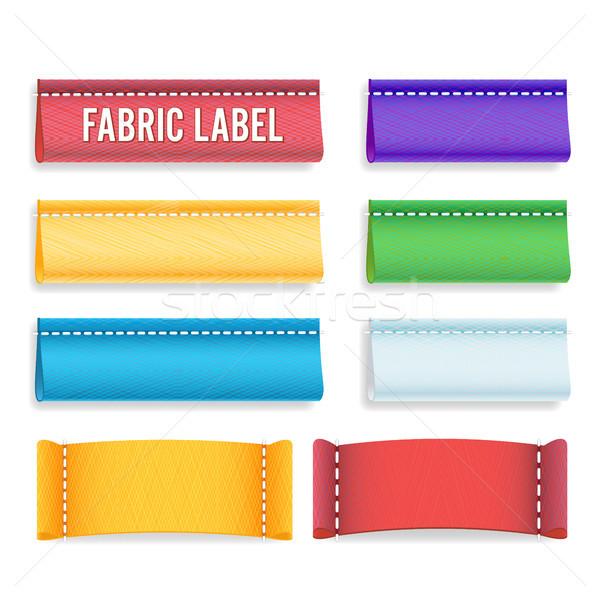 Stockfoto: Kleur · label · weefsel · vector · collectie · kleurrijk