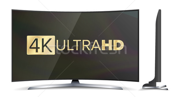 4k TV Vector Screen. UHD Sign. TV Ultra HD Resolution Format. Isolated Illustration Stock photo © pikepicture