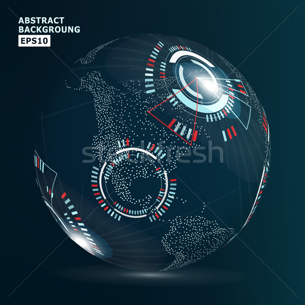 Futuristic Globalization Interface. Vector Illustration. Abstract Digital Backdrop Stock photo © pikepicture