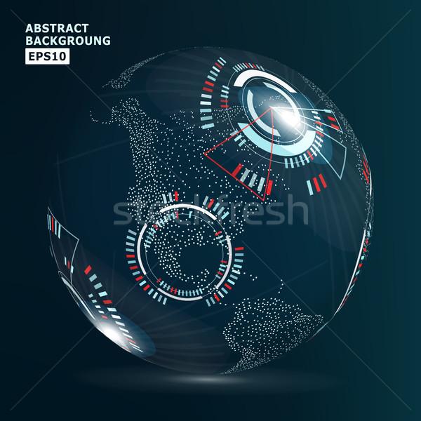 ストックフォト: 未来的な · グローバル化 · インターフェース · 抽象的な · デジタル · 背景