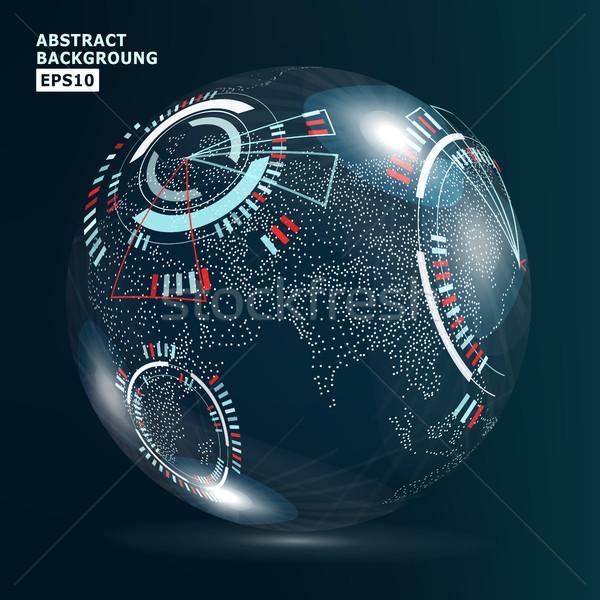 Futurista globalización interfaz tierra ciencia tecnología Foto stock © pikepicture