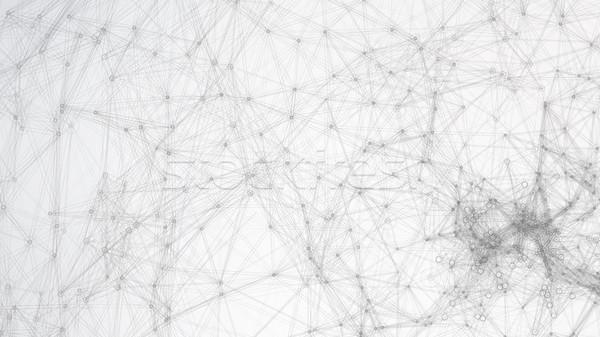 Futuristic Earth Globe. Abstract Technology Futuristic Network. Big Data Complex Vector. Digitally G Stock photo © pikepicture
