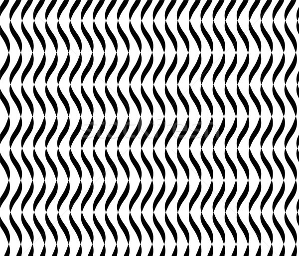 Wavy Lines Seamless Vector Abstract Background. Black And White Wavy Lines Abstract Pattern Stock photo © pikepicture