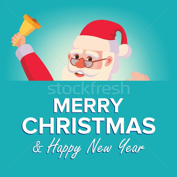 Joyeux Noël carte de vœux vecteur affiche Photo stock © pikepicture