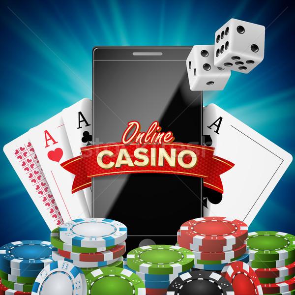 Línea casino banner vector realista Foto stock © pikepicture
