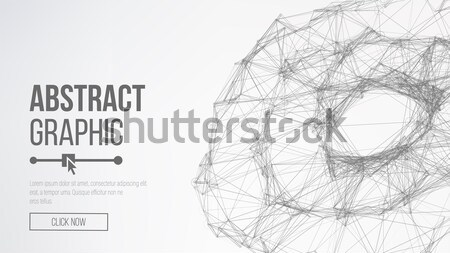 3d Planet Concept. Abstract Technology Background. Abstract Polygonal Space Background. Abstract Sph Stock photo © pikepicture