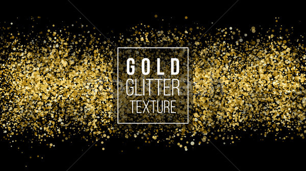 Golden Dust Explosion. Glitter Confetti. Great For Wedding Invitations, Party Posters, Christmas And Stock photo © pikepicture