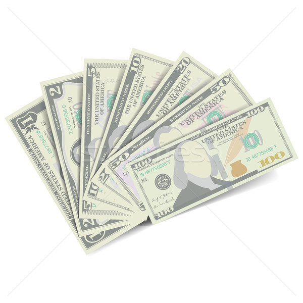 Dollars Banknote Stack Vector. American Money Stock photo © pikepicture