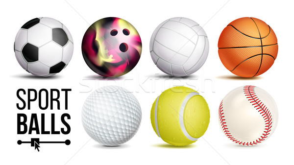 Sport Balls Set Vector. Isolated Illustration Stock photo © pikepicture